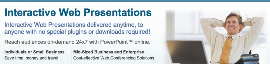 PresenterNet   Interactive Web Conferencing