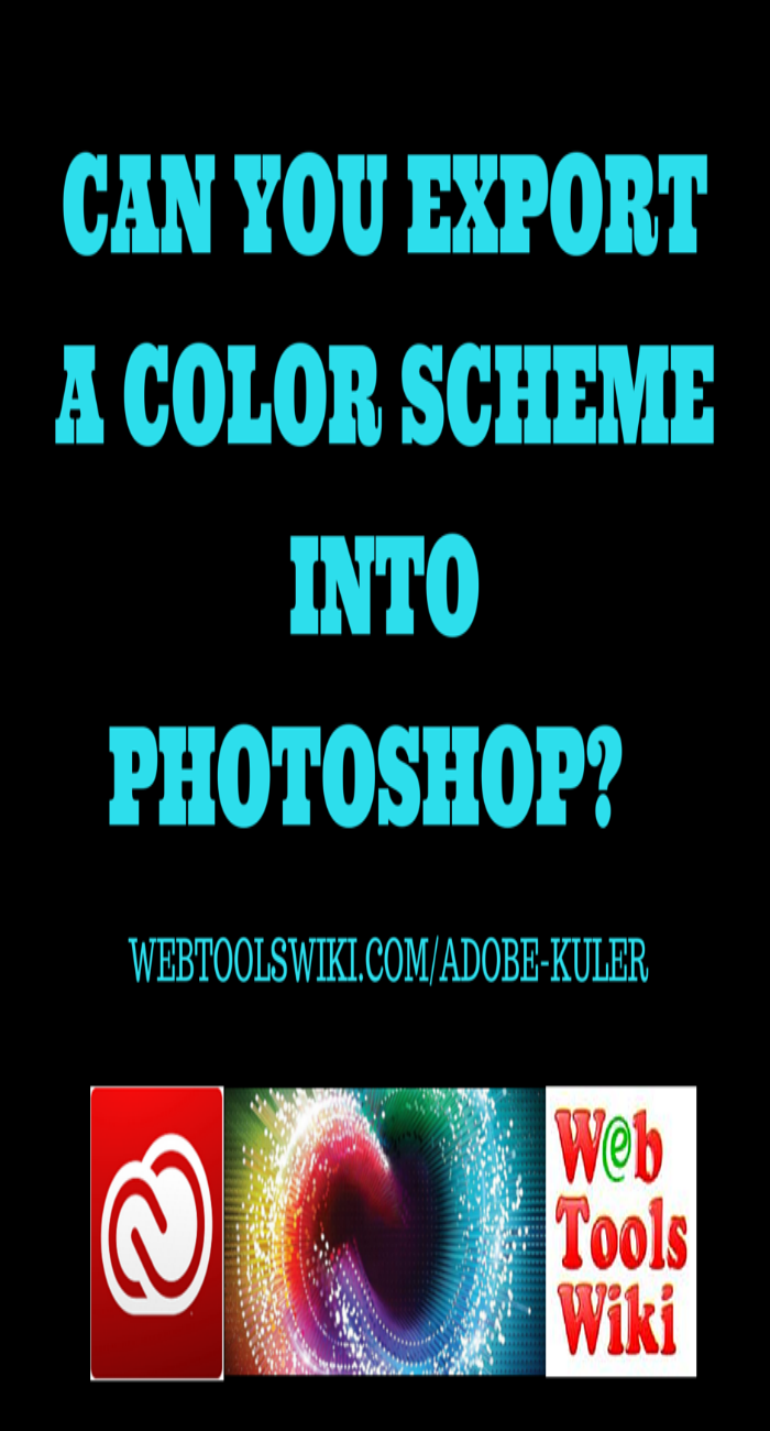 Can You Export A Color Scheme Into Photoshop?