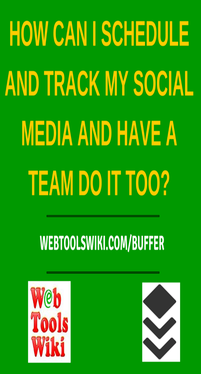 How can I schedule and track my Social media and have a team do It too?