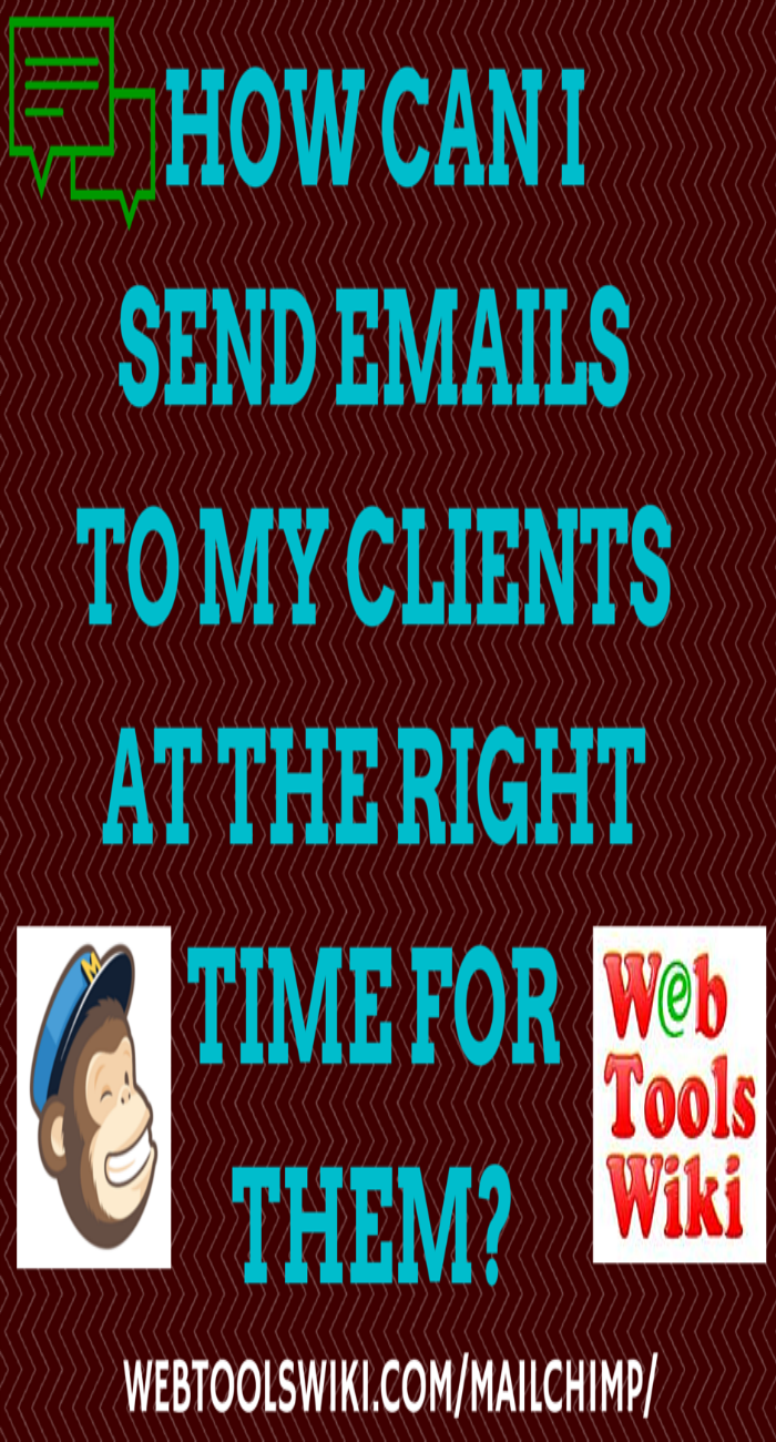 How can I send emails to my clients at the right time for them?