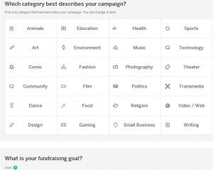 Indiegogo categories
