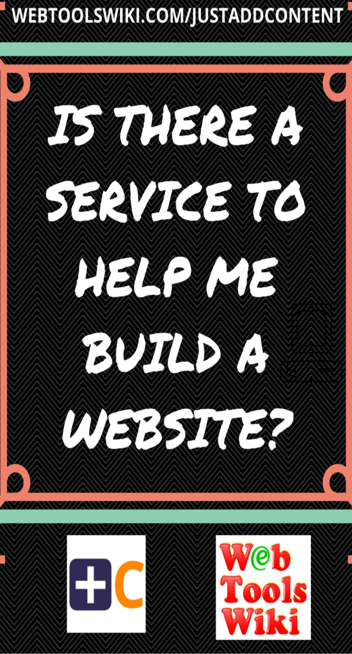 Is There A Service To Help Me Build A Website?