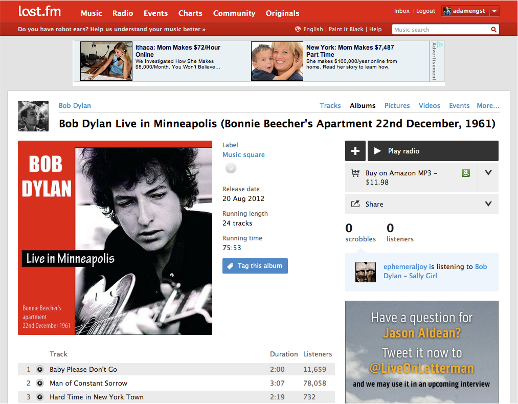 Last.fm-Web-interface