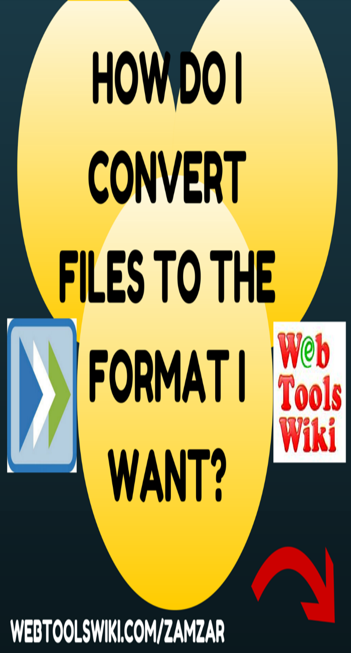 How Do I convert files to the format I want?