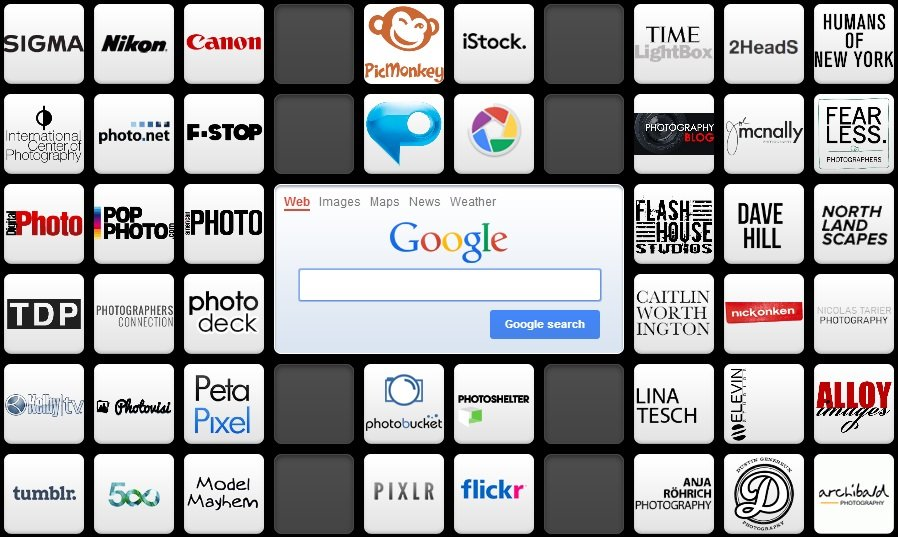 photography preset symbaloo