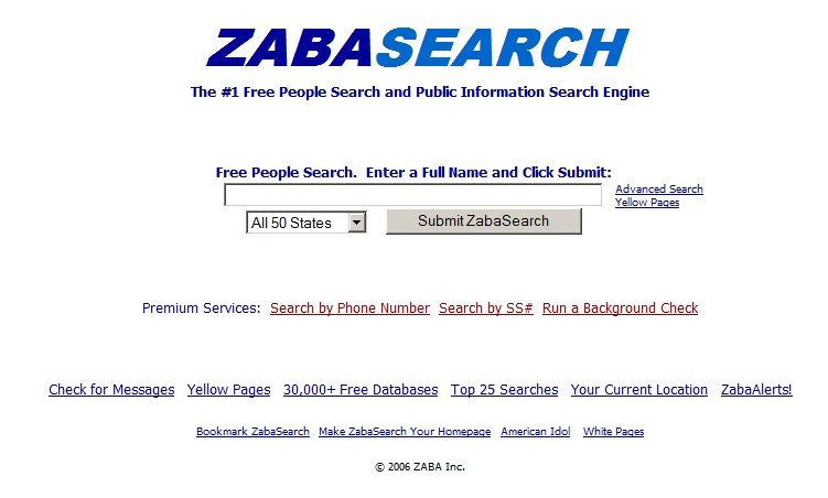Image result for Zabasearch