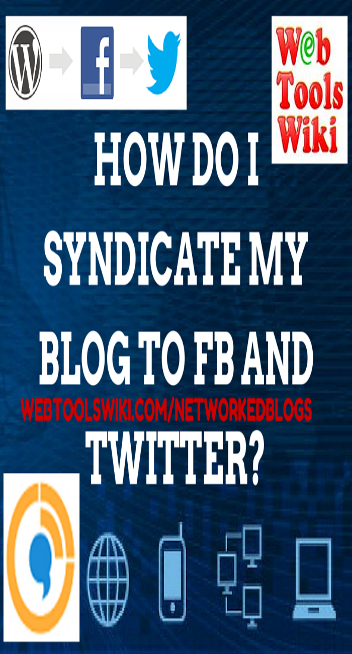 How do I Syndicate my Blog to FB and Twitter?
