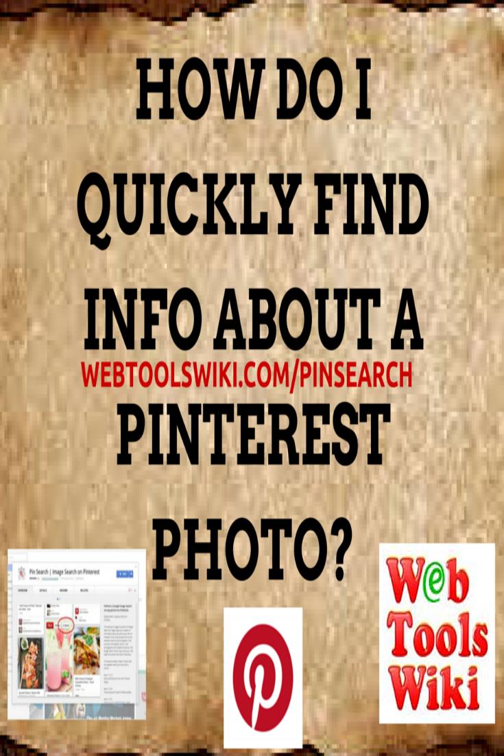 #Pinsearch #WebToolsWiki