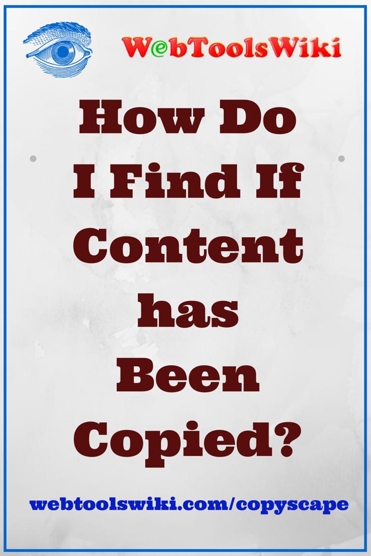 #copyscape #WebToolsWiki