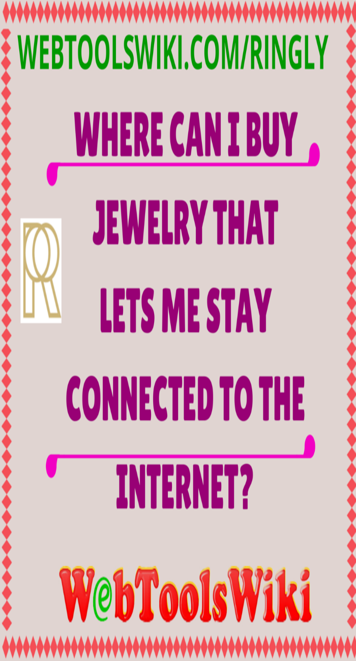 Where can I buy jewelry that lets me stay connected to the internet?