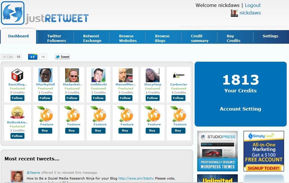 Get More Retweets with JustRetweet #WebToolsWiki