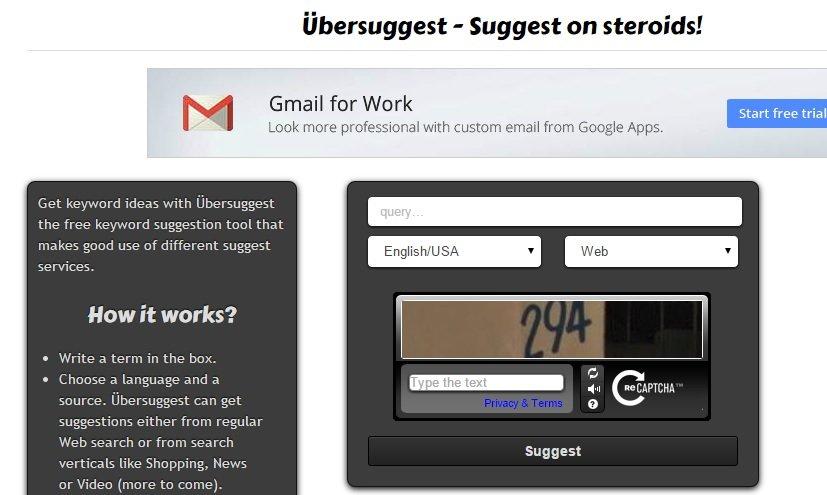 Find Keywords using Ubersuggest #WebToolsWiki