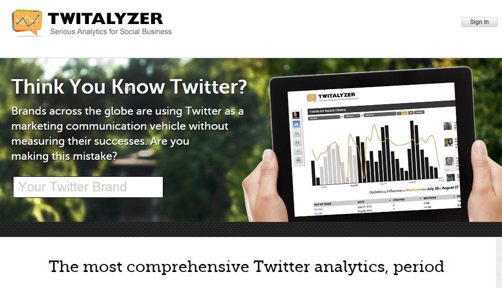 Analyze Twitter Accounts with Twitalyzer #WebToolsWiki