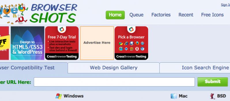 Check Browser Compatibility  Cross Platform Browser Test   Browsershots