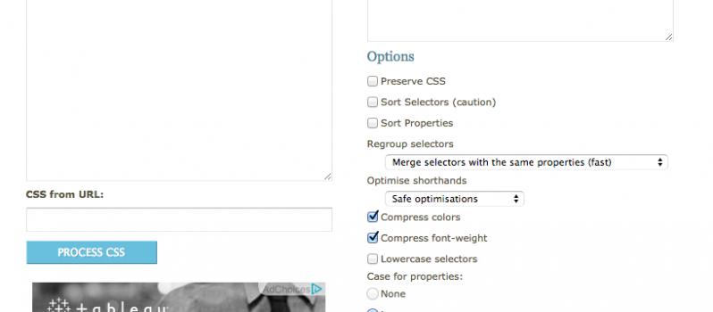 Code Beautifier  CSS Formatter and Optimiser