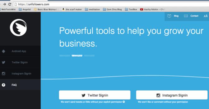 How To Use UnFollowers, @unfollowersme #WebToolsWiki