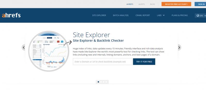 Analyze Links via Ahrefs #WebToolsWiki