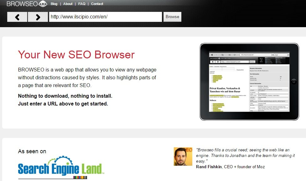 Know Your Site's Issues via Browseo #WebToolsWiki