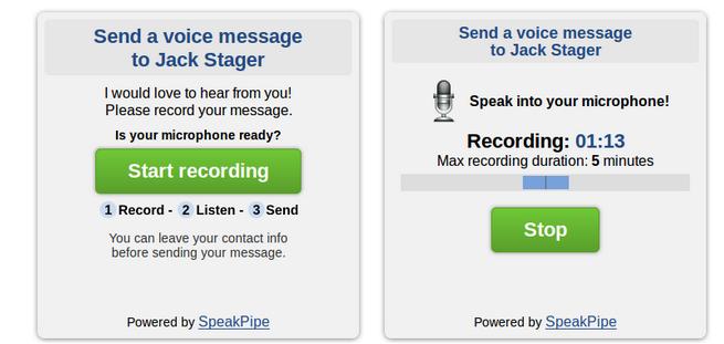 Leave A Voicemail w/ SpeakPipe @Speakpipe #WebToolsWiki